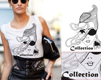 Knitted t-shirt with print