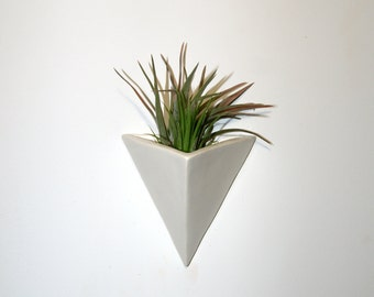 White Triangle | Wall Planter
