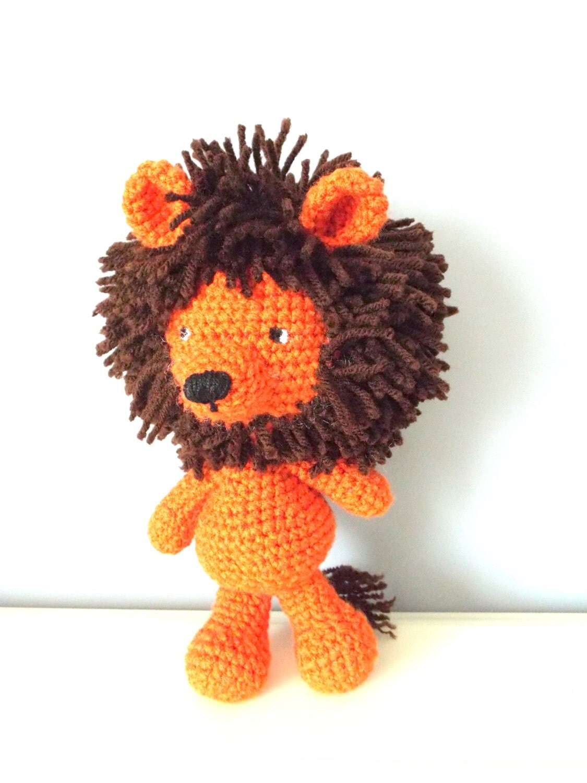Amigurumi Mane : Orange crochet lion toy. Amigurumi stuffed orange lion ...