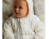 baby hooded jacket and mittens knitting pattern 99p