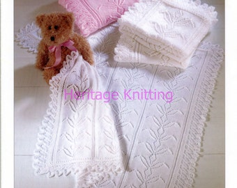 baby shawls dk and 3 ply knitting pattern 99p