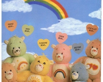 care bear sweaters and bears dk knitting pattern 99p