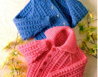 childrens jackets chunky knitting pattern 99p pdf