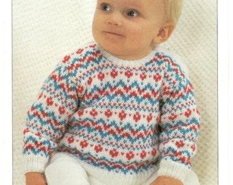 fair isle sweater dk knitting pattern 99p pdf