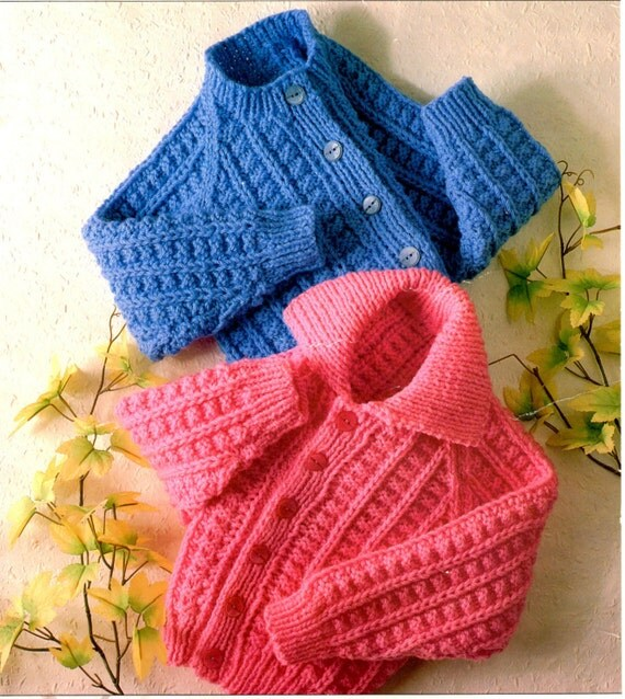 childrens jackets chunky knitting pattern 99p pdf