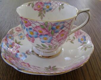 Vintage Royal Albert Floral Tea Cup & Saucer