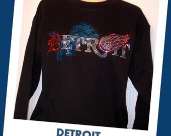 Sweatshirt - Detroit's TEAMS in Black