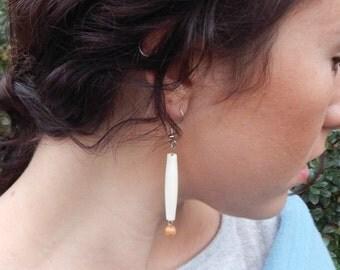 handcrafted elegant brown beaded earrings