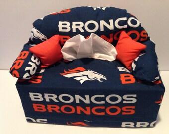 sofa tissue box cover-- Denver Broncos