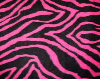 Pink Zebra Fleece Blanket - No Sew Tie Quilt