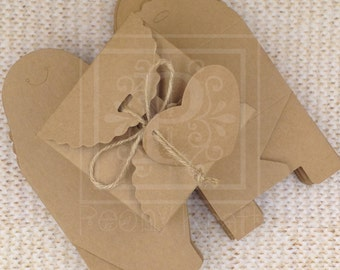 """Set of 50pcs - Favor Boxes with Tags, Party Favor Boxes, Holiday Gift Boxes, Candy Boxes, Cookie Boxes - Box Size 3 1/2"""""""