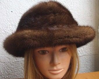 Refurbished new Canadian demi buff mink  fur hat for women woman size all custom made