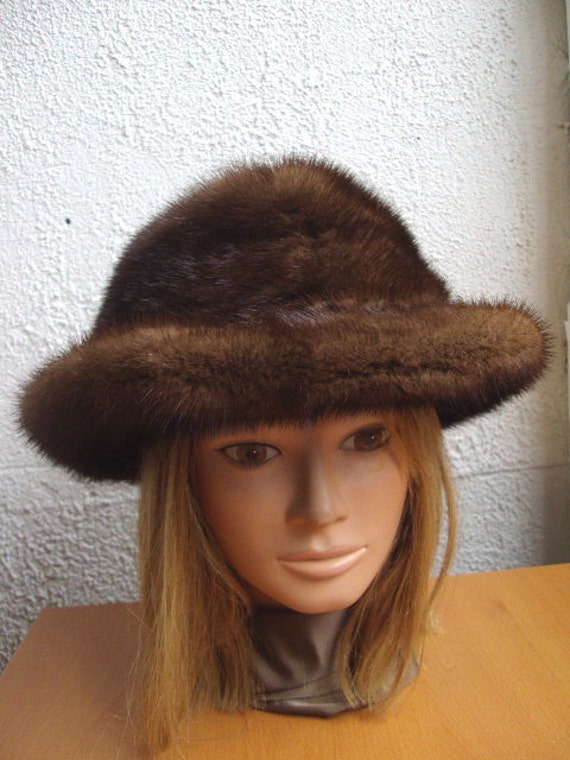refurbished new canadian demi buff mink fur hat for