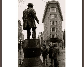 Gassy Jack Statue, Sepia effect, Gastown, Vancouver, BC. Fine Art Photography