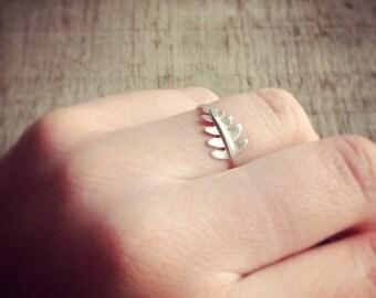 Silver Fern Leaf Ring