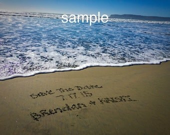 TWO FOR ONE special- Sand Writing on famous California Beaches