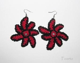 Crochet earrings beautiful stylish earrings flower earrings gentle designer earrings handmade earrings gift ideas for women under 20 (CE-3)