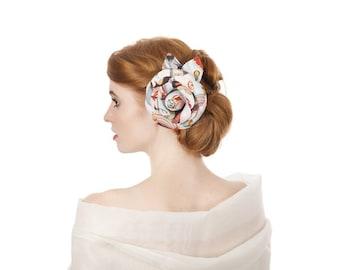 Circus digital print flower corsage