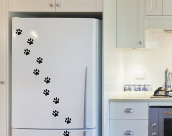Cat paw prints, vinyl wall art stickers decals - 5 sets - 17 to 200 paw prints per set - WS1030
