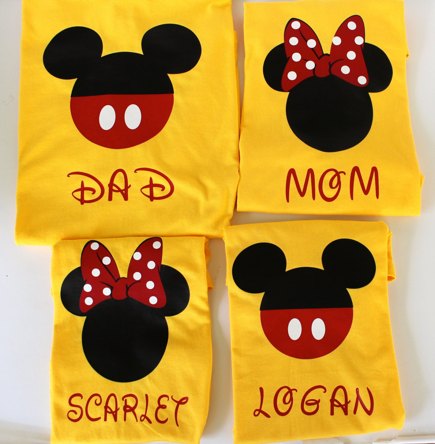Disney Matching family shirts or Individual Minnie and Mickey