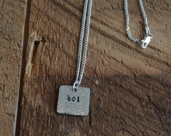 Boi Necklace; Butch; Lesbian Jewelry; Lesbian Necklace; Lesbian GIft; LGBT; Gay Pride; Lesbian Wedding Gift; Lesbian Couple