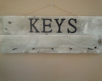Pallet key rack / distressed key holder