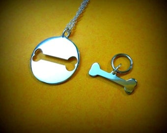 Dog Bone Necklace - Dog Bone Charm - Pendant
