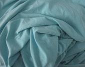 Teal Blue Jersey Knit Fabric by the Yard or Half Yard Blue Spandex Knit ITY 4 Way Stretch Lycra Fabric Clothing Apparel Fashion Fabric Knit