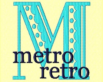 Font Monogram #016 Machine Embroidery Monogram Font Alphabet Design Set INSTANT DOWNLOAD