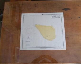 "Navassa Island - Caribbean Sea, West Indies - A smaller chart measuring at 21"" wide x 18"" high, Nautical Chart, 1752"
