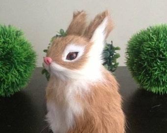 Beautiful Realistic Furry Rabbit  Animal Home Decor