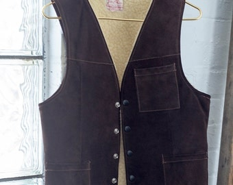 1960's Jo O Kay Mens Leather Vest