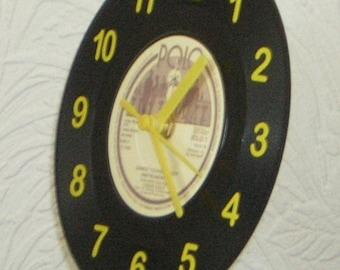 Liquid Gold Polo Vinyl Desk, Shelf and Wall Clock