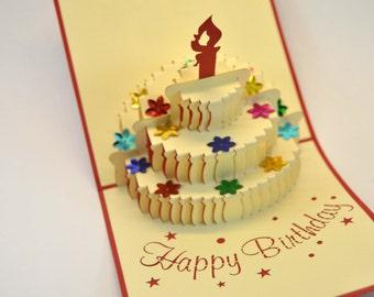 Birthday Card, 3D Birthday Card, Happy Birthday Card, Greeting Card, Handmade Card, Birthday Greetings, Card for a Birthday