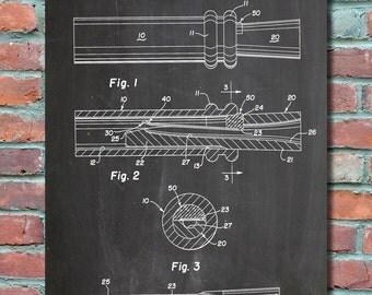 Duck Dynasty Duck Call Patent Wall Art, Patent Print, Blueprint, Patent Poster, Plexity Prints #022