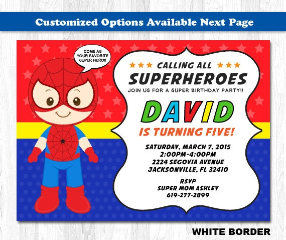 Spiderman Invitation Cards with good invitations ideas
