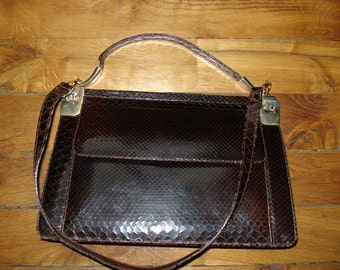 Vintage Brown lizard leather bag