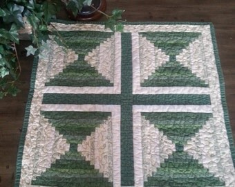 Green St. Patrick's Day Table Runner Quilt