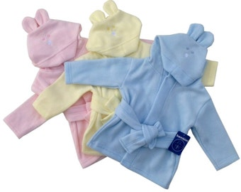 Bambini Fleece Infant Robe with Rabbit Ears Hoodie