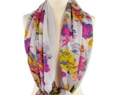 SALE !  Large scarf White Floral scarf Women Shawl Cowl Scarf Gift Ideas For Her Women's Fashion Fringe Scarf Pareo