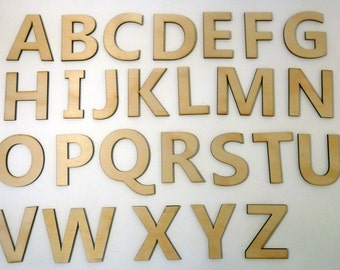 Alphabet Upper Case Laser Cut Plywood Letters
