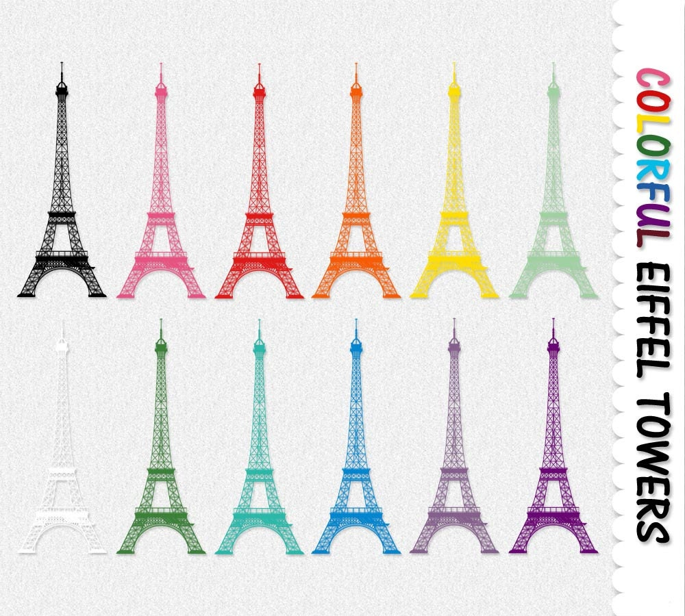 Eiffel Tower Clip Art Graphics Clipart Scrapbook
