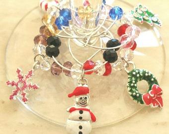 SALE ~ Christmas Wine Glass Charms