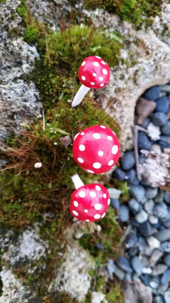 Fairy Garden Red And White Miniture By TheBabieToBridesShop
