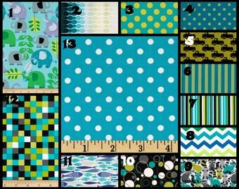 Custom Nursery Fabric Choices Michael Miller Lagoon