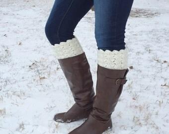 Cream Boot Cuffs