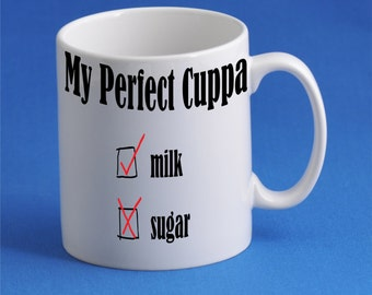 My Perfect Cuppa 11oz Personalised Mug with Unique Artwork
