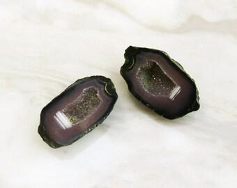 """Agate """"Tobasco"""" Geodes, Set of 2"""