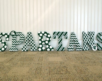Michigan State Spartans Wall Decor, Home Bar Decor, MSU, Rec Room, Kids Bedroom Decor, Man Cave, Green & White