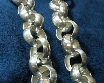 "Sterling Silver 20"" Belcher Necklace"